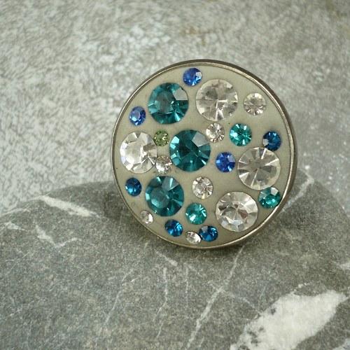Modré třpytky - prstýnek