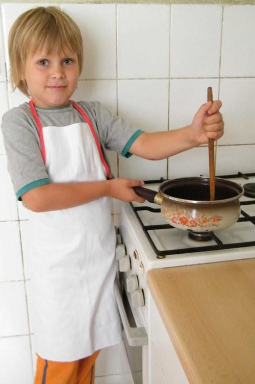 Dětská zástěrka 5-8 let - set na výrobu