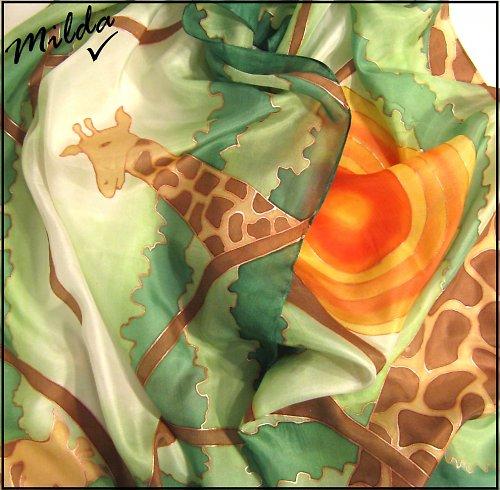 Safari - hedvábná šála