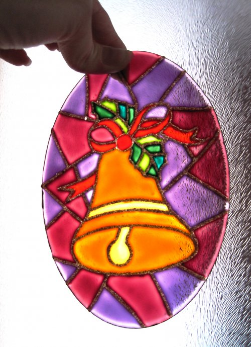 Malovaná vitrážka