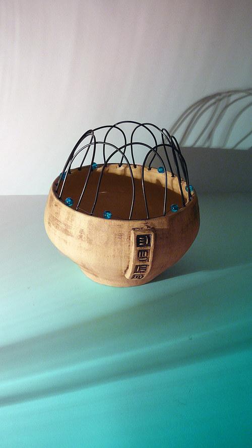 陶瓷碗用铁丝  miska drátěnka