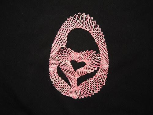 Paličkované velikonoční vejce - růžové