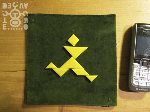 Podložka pod tangram (zelená)