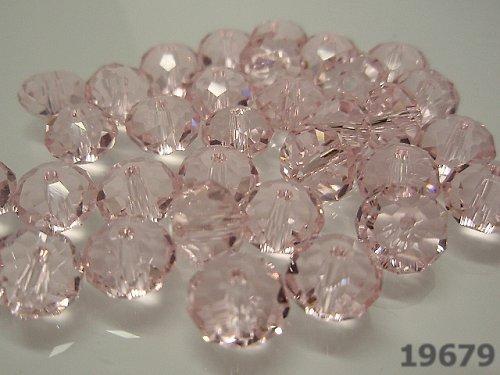 22764 Swarovski rondelka 8mm 5040 růžová 5ks