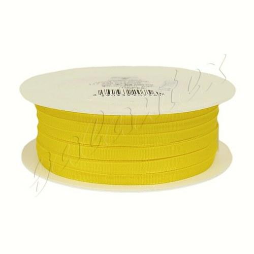 Stuha taftová 4mm x 20m / 207 - žlutá