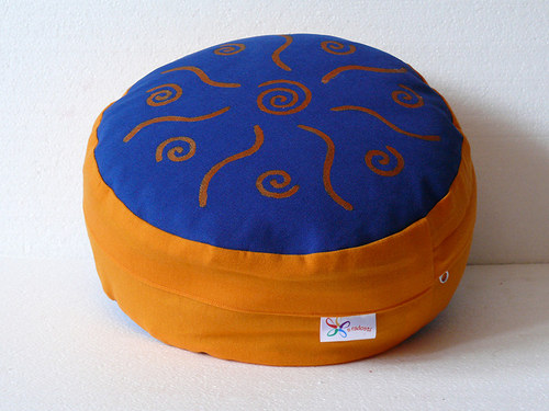 Meditační sedák - malované spirály, 12 cm výška