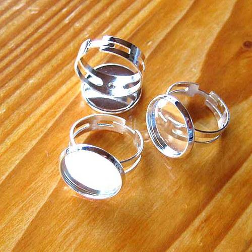 Prsten s Lůžkem 15mm - Stříbrný