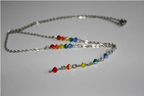 Čakrový náhrdelník - Swarovski - hypoalergenní