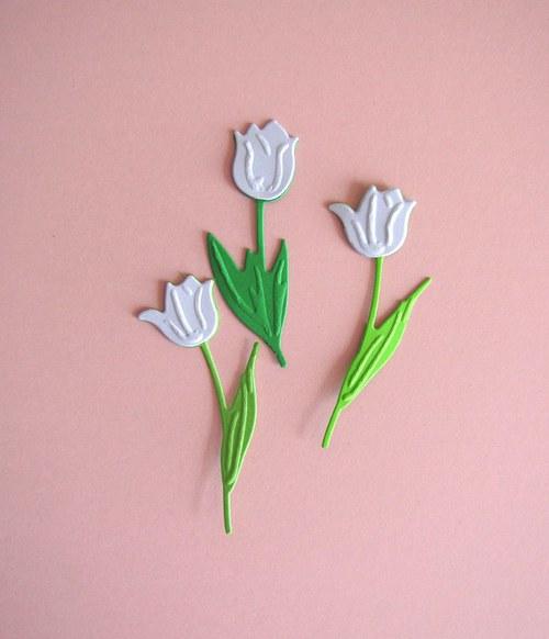 Tři tulipány bílé