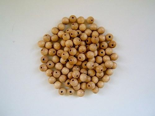Dřevěné korálky 8 mm  100ks