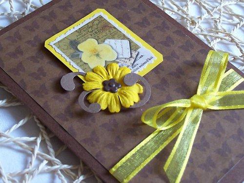 Přání........Žlutá květinka
