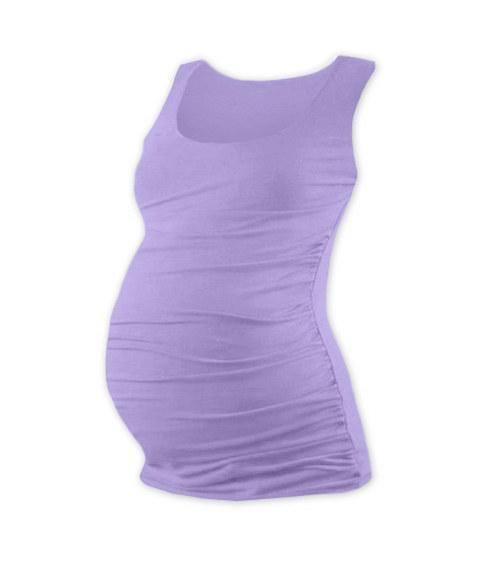 Těhotenské tričko bez rukávu levandulové