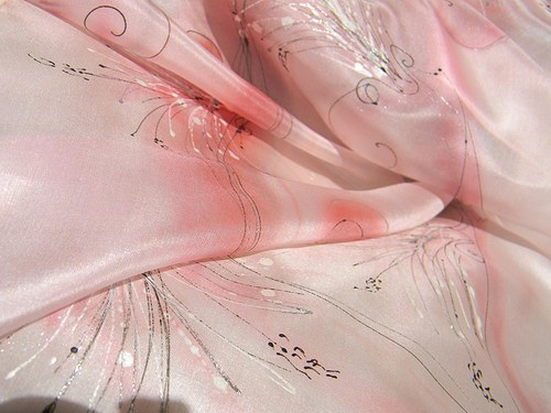Růžová   /šála 35 x 130 cm/