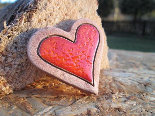 Keramické zápichy - srdce 2