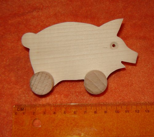 prasátko - dřevěná hračka