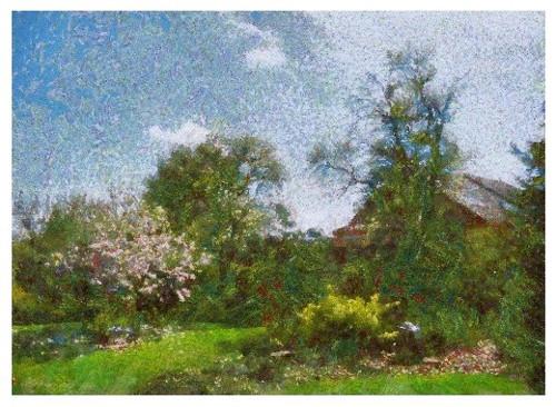 Magnolie v jarní zahradě