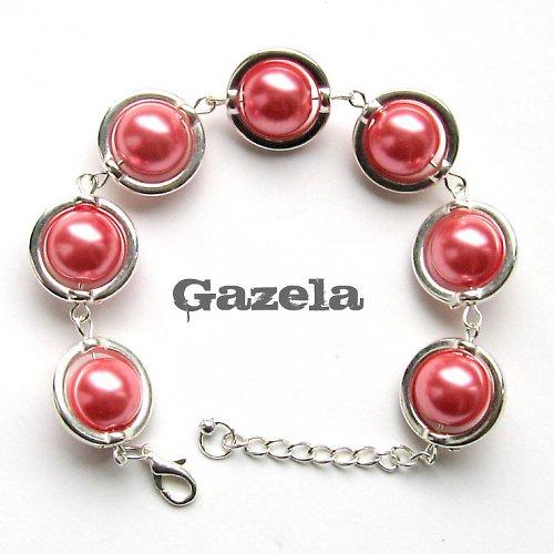 Náramek Růžová perla ve stříbře