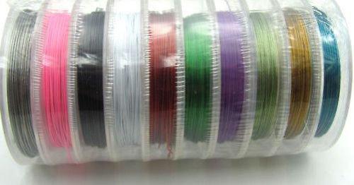 Nylonové ocelové lanko MIX 10 barev - 100metrů!!