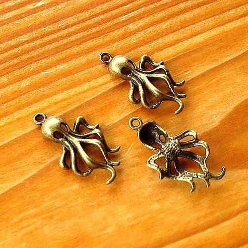 Chobotnice - 2ks - Bronzová