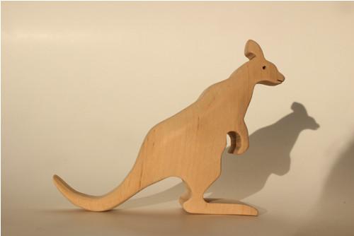 Dřevěné zvířátko - klokan