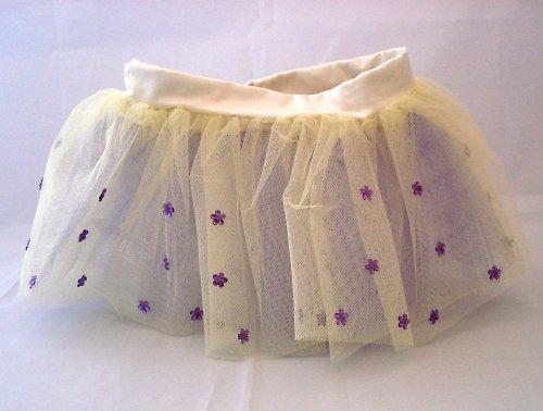 Tylová sukně s fialkovými kytičkami (6-10 let)