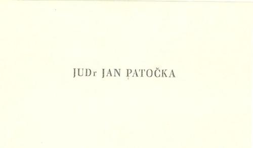 Vizitka JUDr Jan Patočka