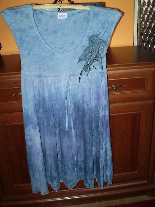 Výprodej!Šaty v modrofialových tónech