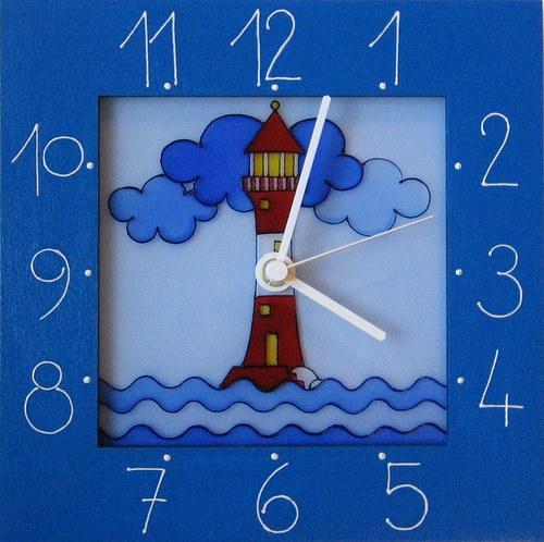 Maják - hodiny v rámu 25cm