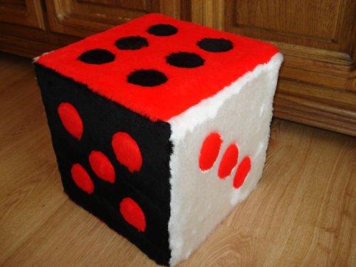 Sedací kostka,židlička,červenočernobílá