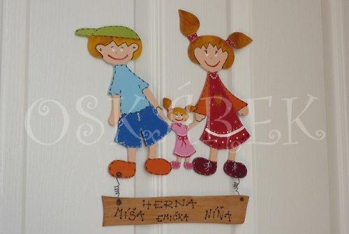 Dřevěná cedulka na dveře DĚTIČEK