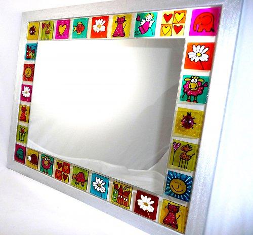 Zrcadlo s barevnými sklíčky