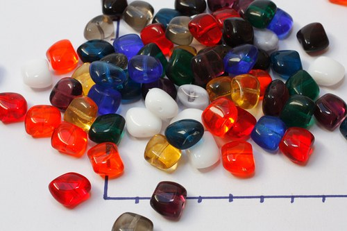 Obdélníčky polštářkové, směs barev, 10 gr