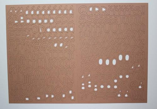 Písmenka 1,6 - 2,3 cm 260 ks