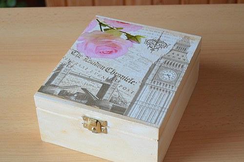 Krabička na čaj - 4 přihrádky - LONDON
