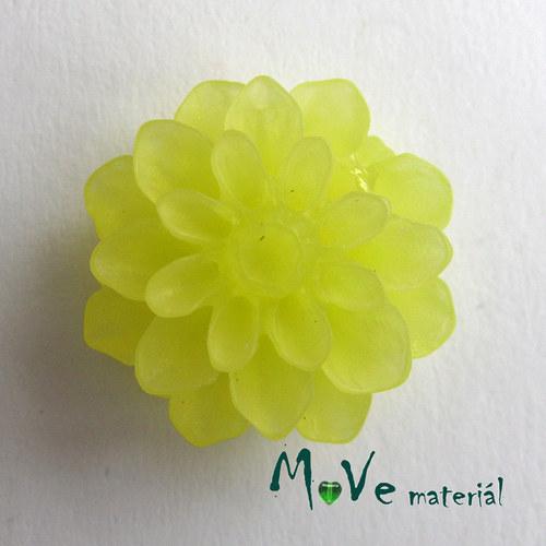 Kabošon květ resin/6ks/žlutý./II. jakost