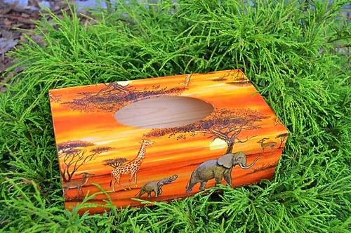 Krabička na kapesníky - afrika