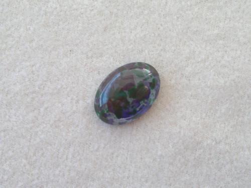 Kabošon 13x18 mm, modro-zelený sprej