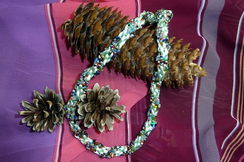 Kumihimo náhrdelník Zakleté v tůni