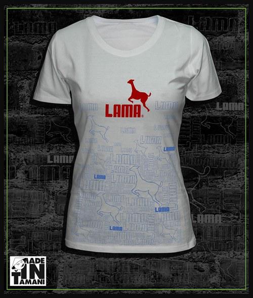 Dámské tričko bílé design Lama 11