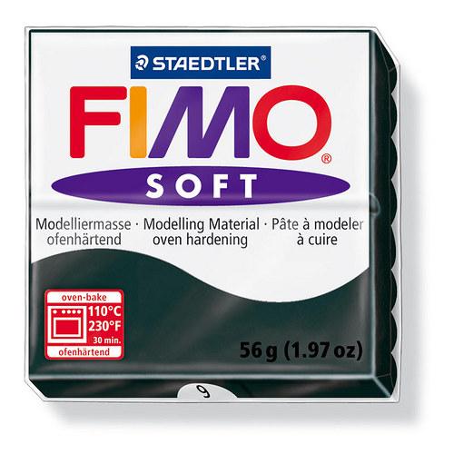 Fimo soft černá 9