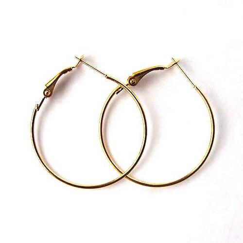 Kruhové Náušnice 35mm - Pár - Zlaté