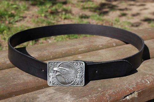 Kožený opasek-western-4 cm