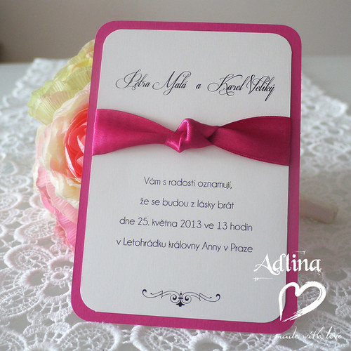 svatební oznámení_fuchsia II