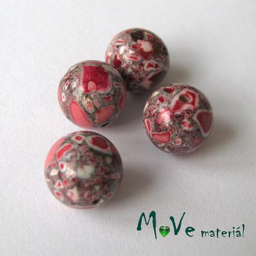 Korálky Marble červené 10mm 4ks