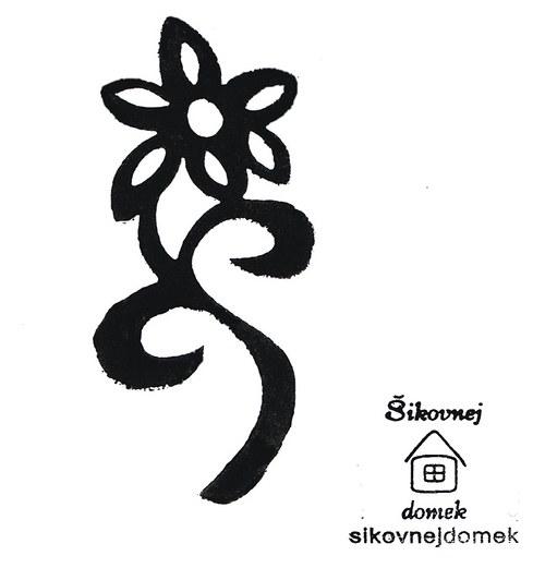 Razítko květina+stonek - v.5x10cm