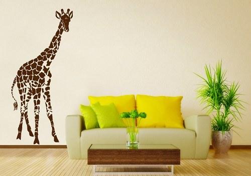 Samolepky na zeď - Žirafa 01 (31 x 70 cm)