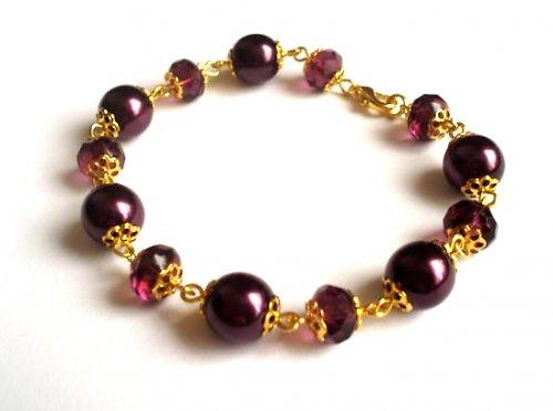 Náramek Deep Violet Gold