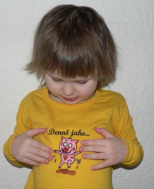 Dětské tričko Denně jako prase