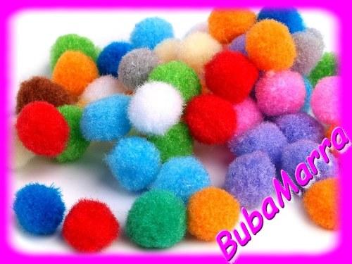 ~ 50ks ~ Bambulky ~ Ø13mm ~ mix barev