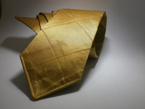 Pánská kravata zlatá